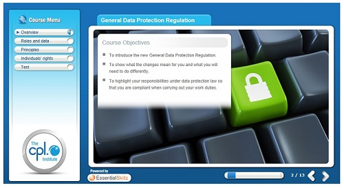 GDPR Course, General Data Protection Regulations